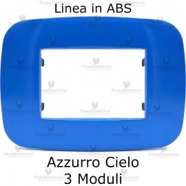 Placca Azzurro Cielo 3,4 e 6 moduli in ABS compatibile con serie Bticino Axolute