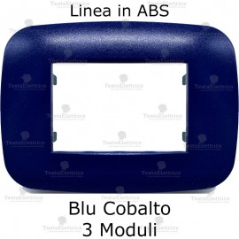 Placca compatibile bticino Axolute Blu Cobalto