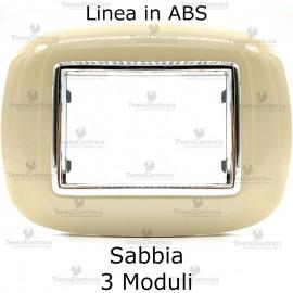 Placca ellittica compatibile bticino Axolute sabbia