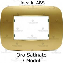 Placca Oro Satinato 3,4 e 6 moduli in ABS compatibile con serie Bticino Axolute