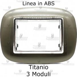 placca compatibile bticino axolute titanium