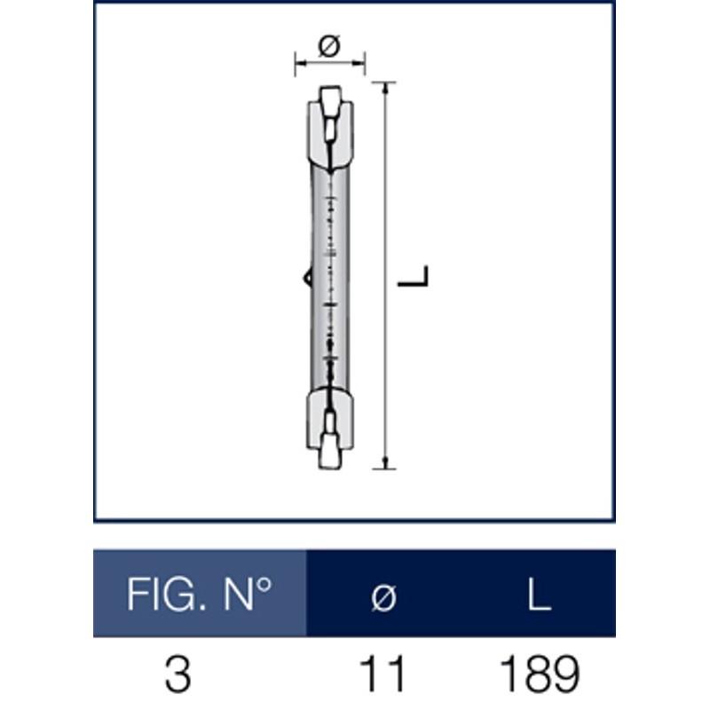 Lineare alogena r7s 15 1000 watt leuci for Lampada alogena lineare led
