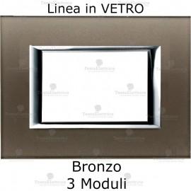 placca in vetro vero compatibile bticino axolute bronzo