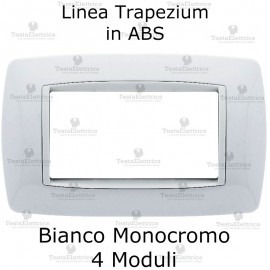Placchetta Bianca 4 moduli compatibile bticino living light