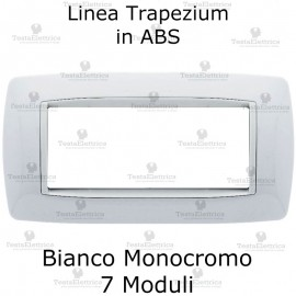 Placchetta Bianca 7 moduli compatibile bticino living light