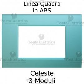 Placchetta Celeste compatibile con serie Bticino LivingLight