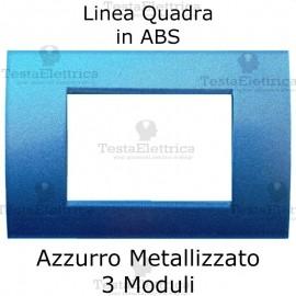 Placchetta Azzurro Metallizzato compatibile con serie Bticino LivingLight