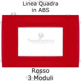 Placchetta Rossa compatibile con serie Bticino LivingLight