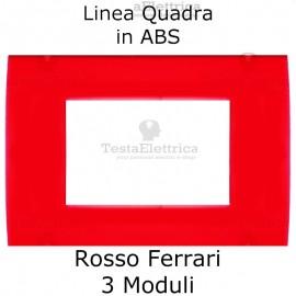 Placchetta Rosso Ferrari compatibile con serie Bticino LivingLight