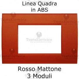 Placchetta Rosso terracotta compatibile con serie Bticino LivingLight