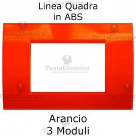 Placchetta Arancione compatibile con serie Bticino LivingLight