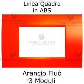 Placchetta Arancio Fluò compatibile con serie Bticino LivingLight