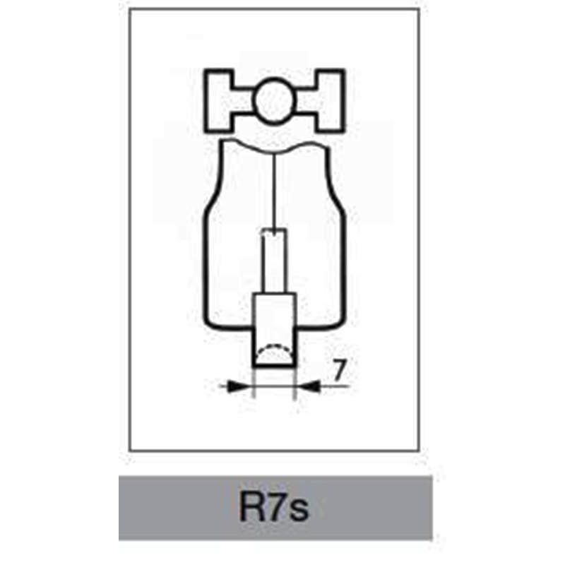 Lineare alogena halo r7s 15 80 watt corta leuci for Lampada alogena lineare led
