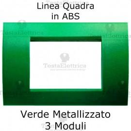 Placchetta Verde Metallizzato compatibile con serie Bticino LivingLight