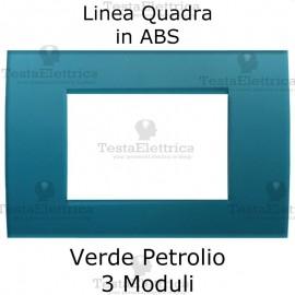 Placchetta Verde Petrolio compatibile con serie Bticino LivingLight