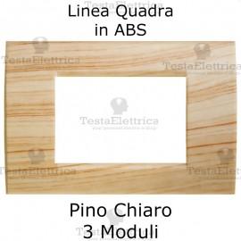 Placchetta Pino Chiaro compatibile con serie Bticino LivingLight