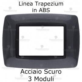 Placchetta acciaio compatibile e adattabile Bticino Living Light