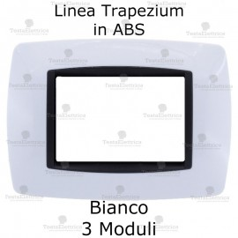 Placchetta bianca compatibile e adattabile Bticino Living Light