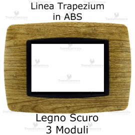 Placchetta Legno Scuro compatibile e adattabile Bticino Living Light