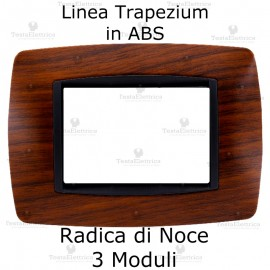 Placchetta Radica di Noce compatibile e adattabile Bticino Living Light
