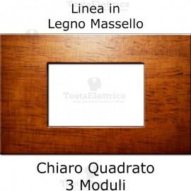 Placca compatibile con serie Bticino Living in Legno Massello