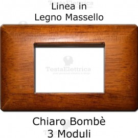 Placca compatibile con serie Bticino LivingLight in Legno ciliegio
