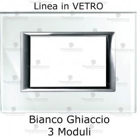 placca bianca compatibile bticino matix in vetro