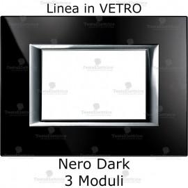 placca nera compatibile bticino matix in vetro
