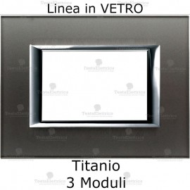 placca compatibile bticino matix in vetro Titanio