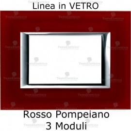 placca compatibile bticino matix in vetro Rosso Pompeiano