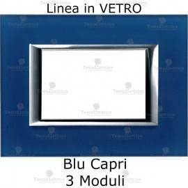 placca compatibile bticino matix in vetro Blu