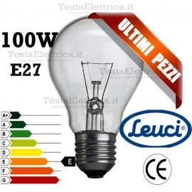 Lampada a incandescenza goccia 100W E27 Leuci