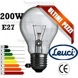 Lampada a incandescenza goccia 200W E27 Leuci