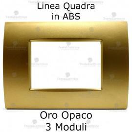 Placca compatibile bticino oro