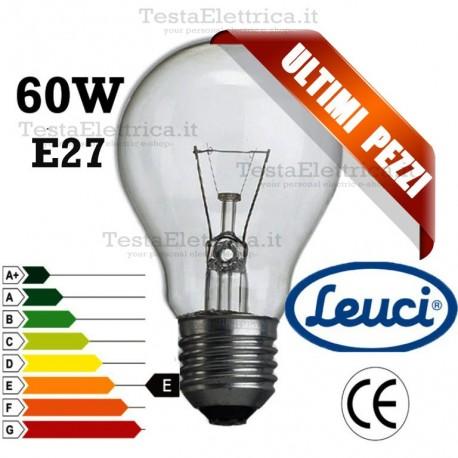 Lampada a incandescenza goccia 60W E27 Leuci