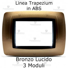 Placchetta bronzo lucido compatibile e adattabile Bticino Living international
