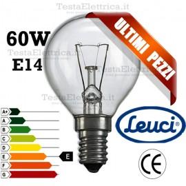Lampada a incandescenza sfera 60W E14 Leuci