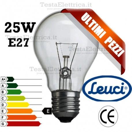 Lampada a incandescenza goccia 25W E27 Leuci