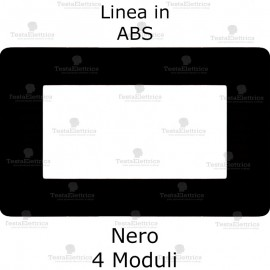 Placca bticino matix nera 4 moduli