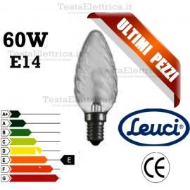 Lampada a incandescenza tortiglione 60W E14 Leuci