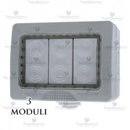 Cassetta da muro compatibile bticino matix ip55 3 moduli