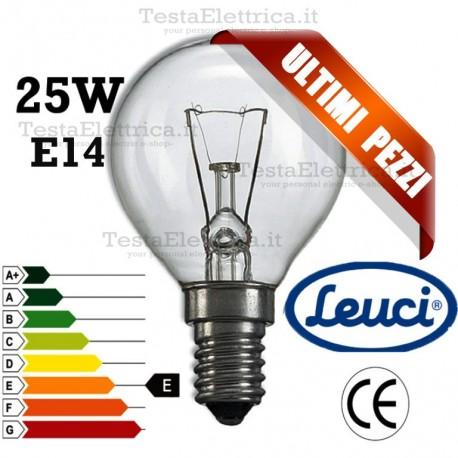 Lampada a incandescenza sfera 25W E14 Leuci