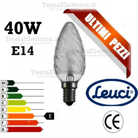 Lampada a incandescenza tortiglione 40W E14 Leuci