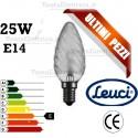 Lampada a incandescenza tortiglione 25W E14 Leuci