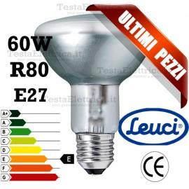Lampada a incandescenza reflector R80 60W E27 Leuci