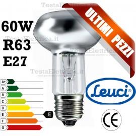 Lampada a incandescenza reflector R63 60W E27 Leuci