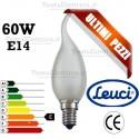 Lampada a incandescenza colpo di vento 60W E14 Leuci