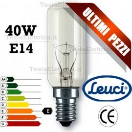 Lampada a incandescenza tubolare per cappa 40W E14 Leuci