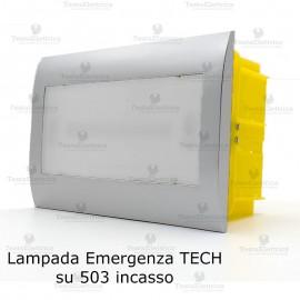 Lampada d' emergenza LED cornice silver per scatole 503