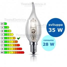 Lampada alogena Colpo di Vento 28W E14 Leuci